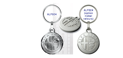 Porte clés Alpha Roméo ALF024/ ALF024(option nickel velours)