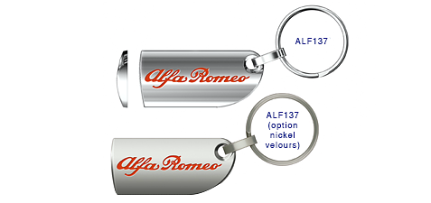 Porte clés Alpha Roméo ALF137/ ALF137(option nickel velours)