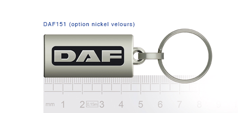 Porte clés DAF daf151 (option nickel velours)