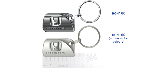 Porte clés Honda hon160/ hon160 (option nickel velours)