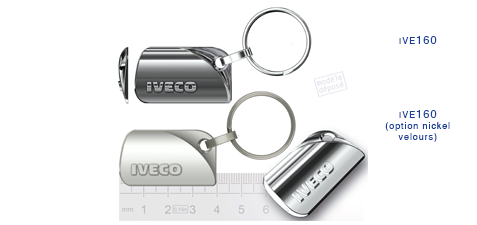 Porte clés Iveco ive160/ive160 (option nickel velours)