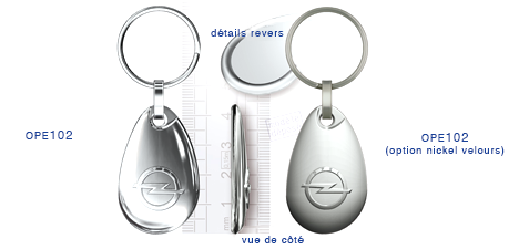 Porte clés Opel ope102/ope102 (option nickel velours)