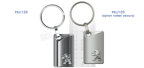Porte clés Peugeot peu120/peu120 (option nickel velours)