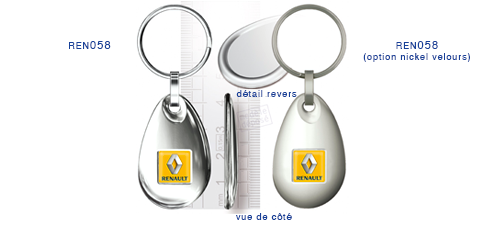 Porte clés Renault ren058/ren058 (option nickel velours)