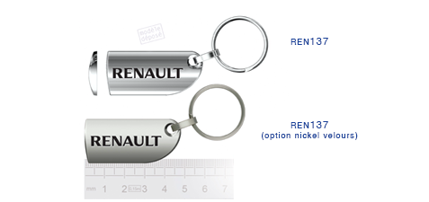 Porte clés Renault ren137/ren137 (option nickel velours)