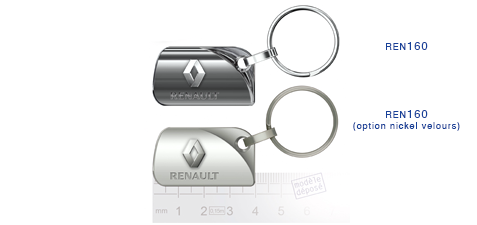 Porte clés Renault ren160/ren160 (option nickel velours)